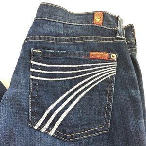 7 For All Mankind Dojo's Jeans Flare Trouser Pleat